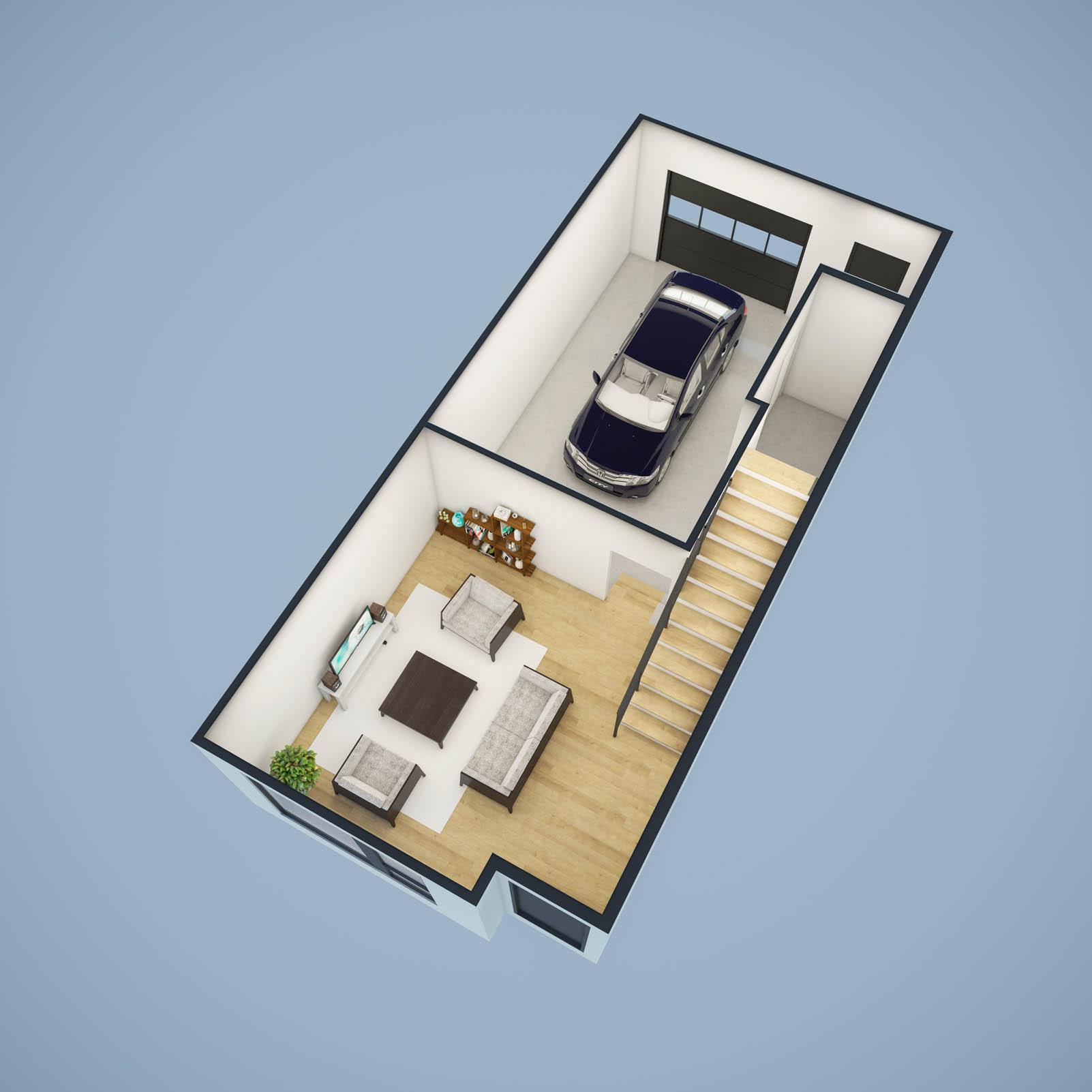 1st Floor Cutaway