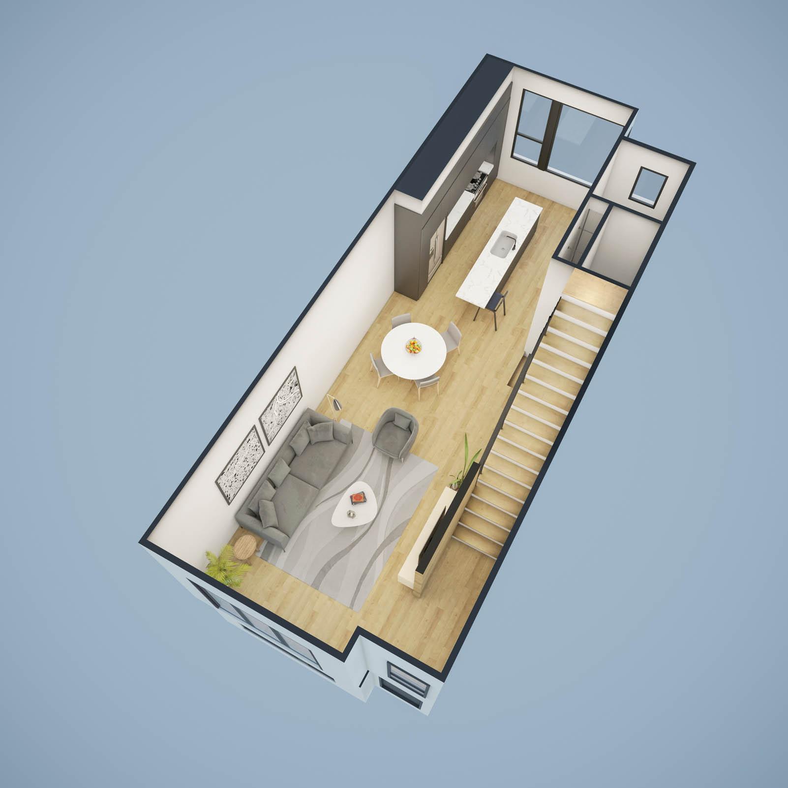 2nd Floor Cutaway