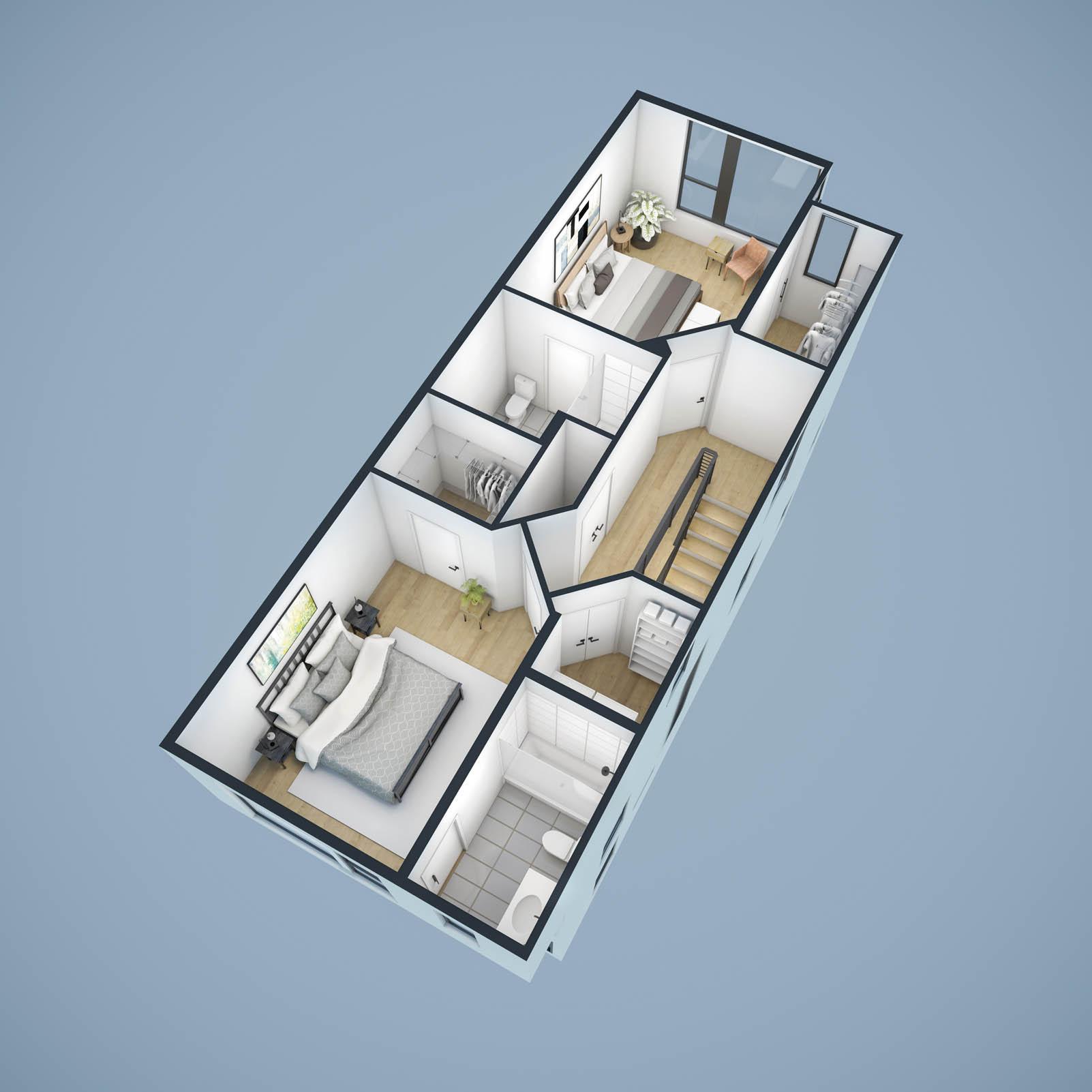 3rd Floor Cutaway