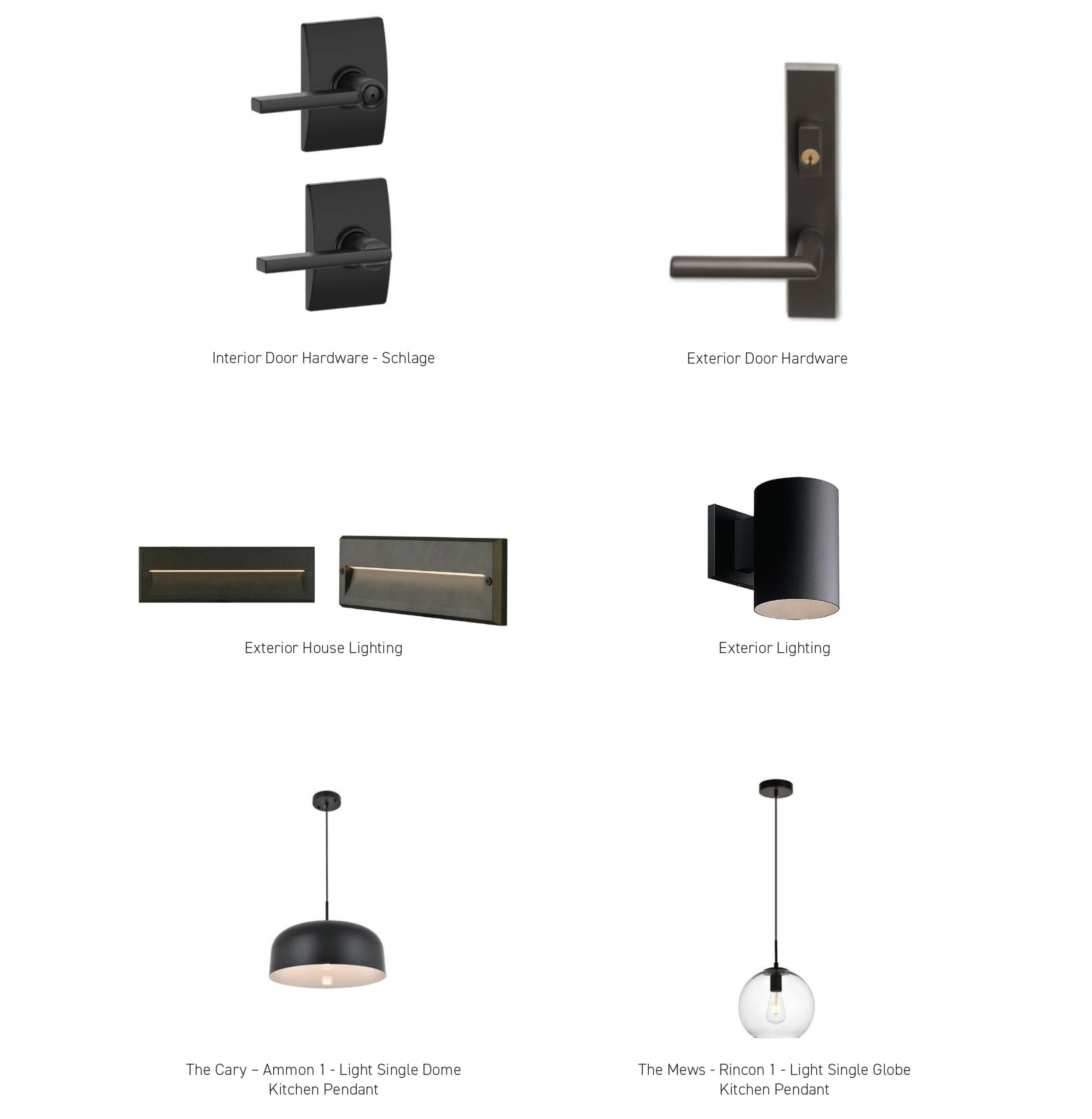Interior/Exterior Lighting + Hardware - The 2200 at Cary